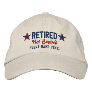 Personalizable Edit Text Happy Retirement Embroidered Baseball Caps