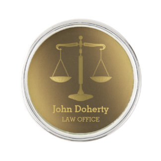 Personalizable | Elegant Scales of Justice Lapel Pin