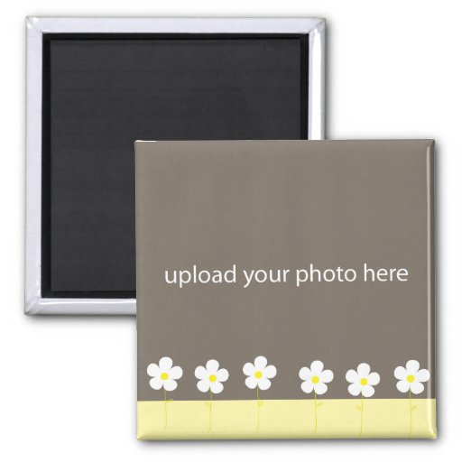 Personalizable Flower Photo Frame Magnets