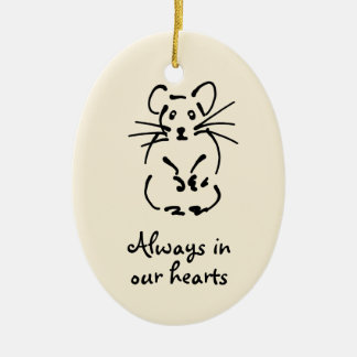 Personalizable Hamster Memorial Ornament