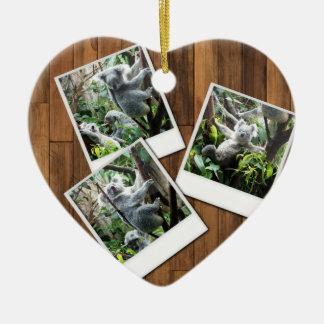 Personalizable Instant Multi Photo Frame Ceramic Heart Decoration