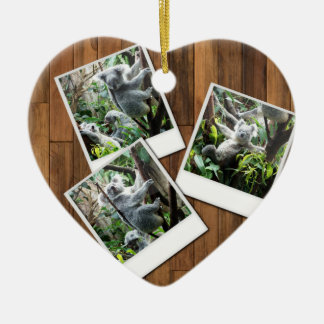 Personalizable Instant Multi Photo Frame Christmas Ornament