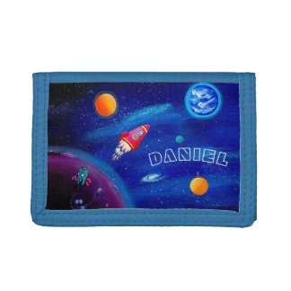 Personalizable Kids Wallet | Outer Space Motif