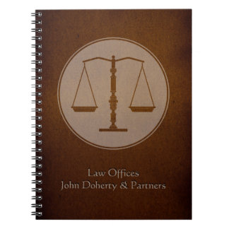 Personalizable Lawyer Notebook - Scales of Justice