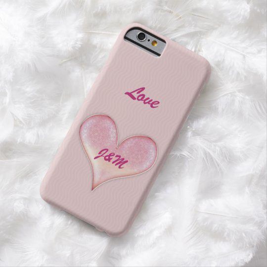 Personalizable Lovely Valentine Heart Barely There iPhone 6 Case