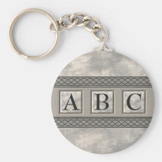 Personalizable Marble Monogram Keychain