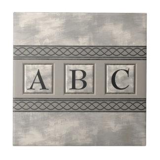 Personalizable Marble Monogram Tile