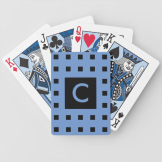 Personalizable Monogram Classy Square Pattern Bicycle Playing Cards