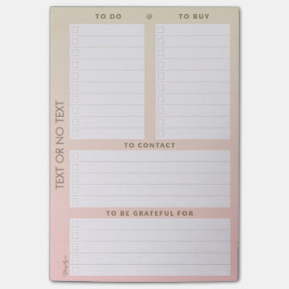 Personalizable Multiple To-Do List Pad Post-it Notes