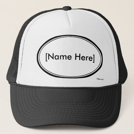 Personalizable Name Stamp Trucker Hat