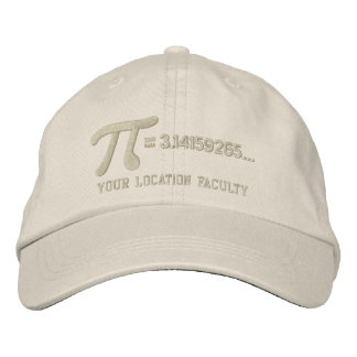 Personalizable Pi Formula Embroidered Hats