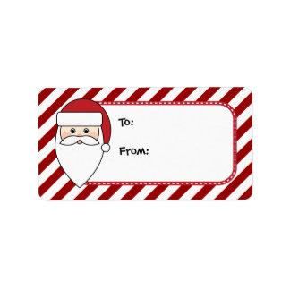Personalizable Santa Claus Christmas Tags