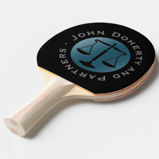 Personalizable Scales of Justice Ping Pong Paddle