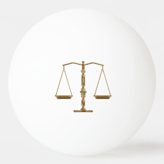 Personalizable Scales of Justice Symbol Ping Pong Ball