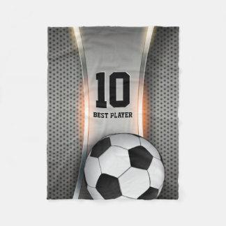 Personalizable Soccer   Football ball Fleece Blanket