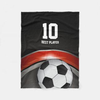 Personalizable Soccer | Football ball Fleece Blanket