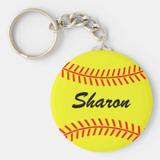 Personalizable softball keychains