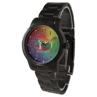 Personalizable Sport Time   American Football Wrist Watches