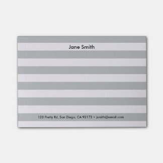 Personalizable Striped Post-It® Notes