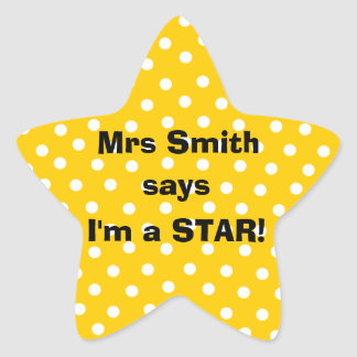 Personalizable Teacher stickers -  I'm a star