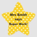 Personalizable Teacher stickers -  Super Work