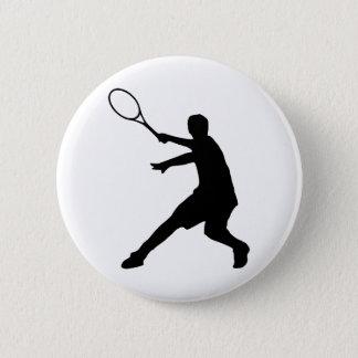 Personalizable tennis 6 cm round badge