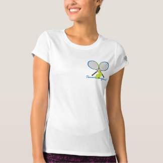 Personalizable Tennis Anyone Crossed Rackets T-Shirt