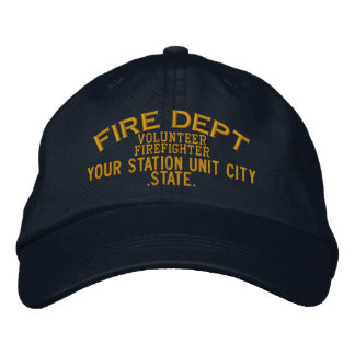 Personalizable Volunteer Firefighter Hat Embroidered Hat