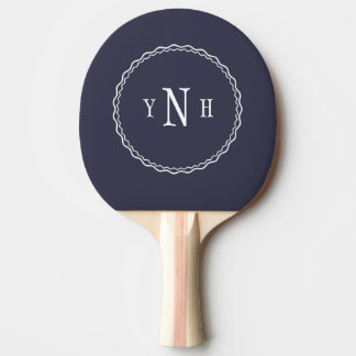 Personalizable with three-letter Monogram Ping Pong Paddle