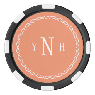Personalizable with three-letter Monogram Poker Chips