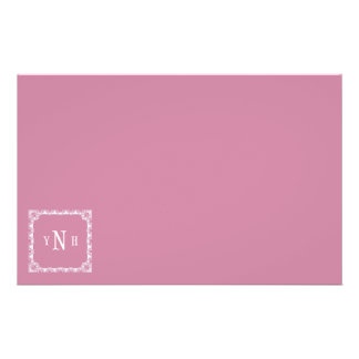 Personalizable with three-letter Monogram Stationery