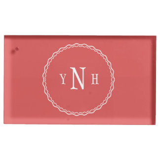Personalizable with three-letter Monogram Table Card Holder