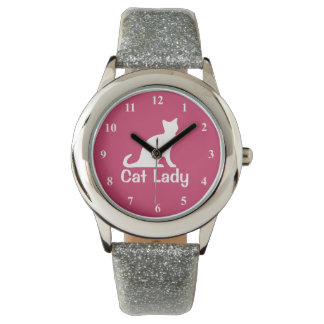 Personalizable wrist watch for cat lovers