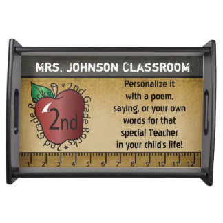 Personalize 2nd Grade School Teacher Gifts Serving Tray