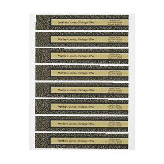 Personalize:  40th Birthday Theme Return Address Wrap Around Label