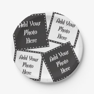 Personalize 4 Photos Paper Plates 7 Inch Paper Plate