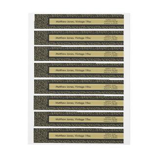 Personalize:  50th Birthday Theme Return Address Wrap Around Label