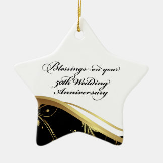 Personalize, 50th Wedding Anniversary Religious Christmas Ornament