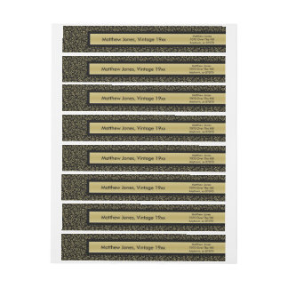 Personalize:  60th Birthday Theme Return Address Wrap Around Label