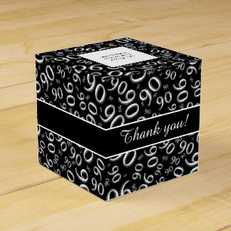 Personalize: 90th Birthday Party Black/White Favour Box