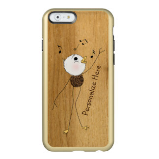 Personalize a Ducky Singing Duck on Wood Incipio Feather® Shine iPhone 6 Case