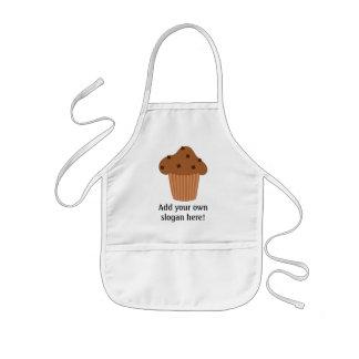 Personalize a Mini Choc Chip Muffin graphic Kids Apron