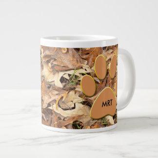 Personalize:  Abstract Nature Photo Autumn Camo Jumbo Mug