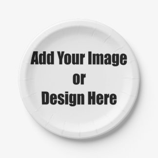 "(Personalize) Add ""Your"" personal touch. Paper Plate"