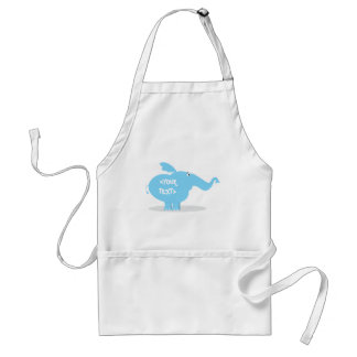 Personalize an Elephant, <YOUR TEXT> Standard Apron