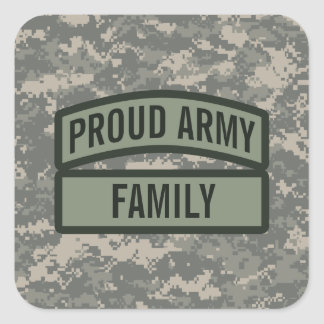 Personalize Army Family Camo Sticker