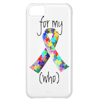 Personalize Autism Ribbon iPhone 5C cover
