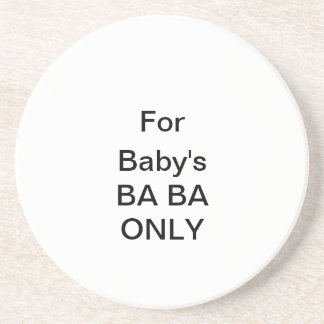Personalize BABA Only Coaster