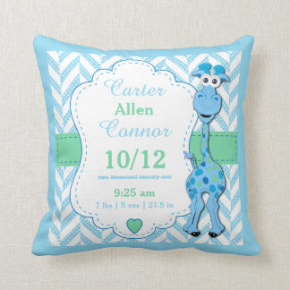 Personalize - Baby Blue Giraffe Cushion