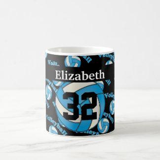 Personalize Baby Blue Volleyball Basic White Mug